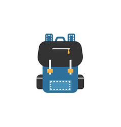 Backpack flat icon education and school element vector