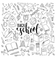 Big set of hand drawn doodle welcome back vector