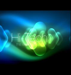 Blurred arrows in dark space neon pointers glass vector