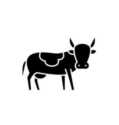 bull black icon sign on isolated vector image