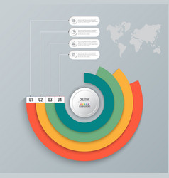 business infographics circle origami style vector image