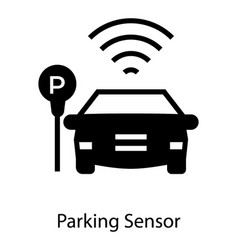 Car parking sensor vector