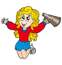 cartoon cheerleader vector image