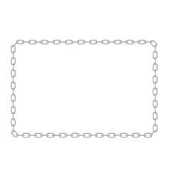 chains frame vector image