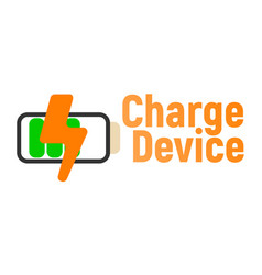 charge device logo and icon energy label for web vector image