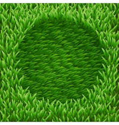 Circle on green grass vector