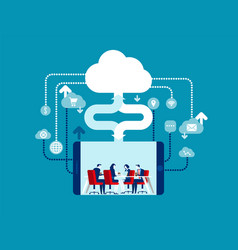 Cloud computing concept business vector