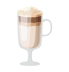 Coffee cups different cafe drinks latte macchiato vector image