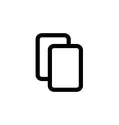 copy file icon duplicate document symbol vector image