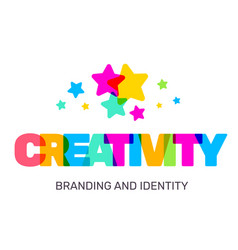 creative of multicolor creativity business word vector image