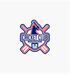 Cricket club badge logo-2 vector