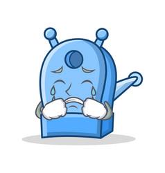 Crying pencil sharpener character cartoon vector
