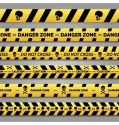 Danger tape set vector image