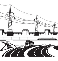 Different infrastructural construction vector