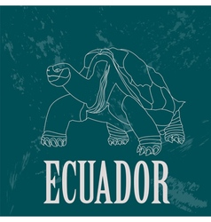 Ecuador landmarks Retro styled image vector image