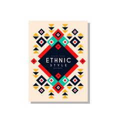 ethnic style card template original design vector image