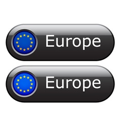 EU flag buttons vector image