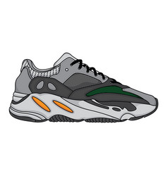 fashion sneakers shoes sports vector image