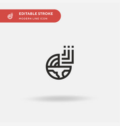 Geology simple icon symbol vector