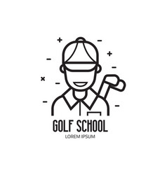 golf school or club logotype vector image