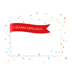 Grand opening celebration banner with text space vector