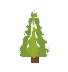 Green pine tree vector
