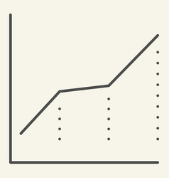 growth graph thin line icon chart vector image