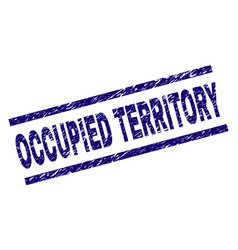 Grunge textured occupied territory stamp seal vector