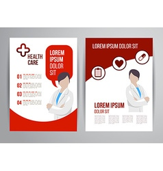 healthcare brochure vector image