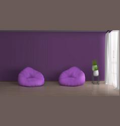 home living room interior realistic mockup vector image