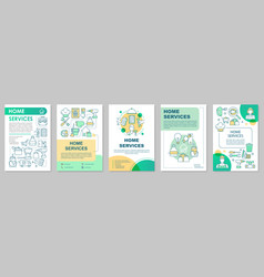 Home services brochure template layout handyman vector