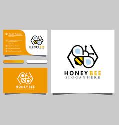 Honey bee icon colorful logo design graphic vector