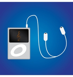 Ipod music vector