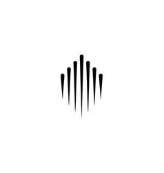 Line spark up logo concept vector