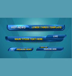 Lower thirds template vector