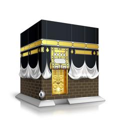 Makkah kaaba hajj muslims islamic mecca vector
