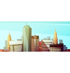 Manhattan Cityscape Background With Skyscrapers vector