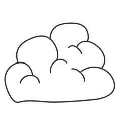 Monochrome contour of cloud icon vector
