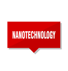 Nanotechnology red tag vector