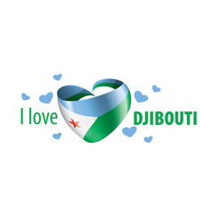 National flag djibouti in shape a vector