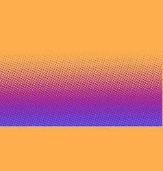 orange blue gradient halftone background vector image