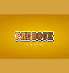 Paddock western style word text logo design icon vector