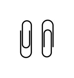 paperclip set icon symbol simple design vector image