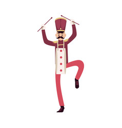 Parade and marching band participant mustache man vector