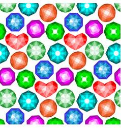 Pattern of colored gemstones vector