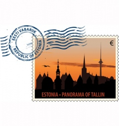 postmark from Estonia vector image vector image