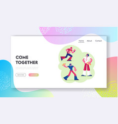 professional rugby sport website landing page vector image