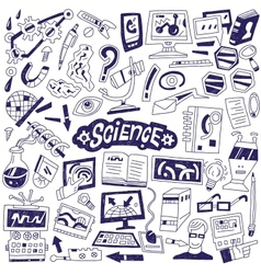 Science - doodles vector image