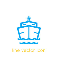 ship icon on white vector image