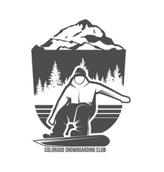 snowboarding badges and logotypes vector image